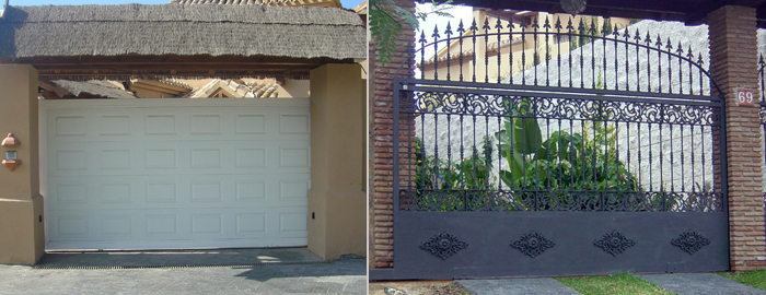 Puertas met licas corredera horizontal for Puertas metalicas malaga